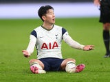 Son Heung-min in action for Spurs on February 4, 2021