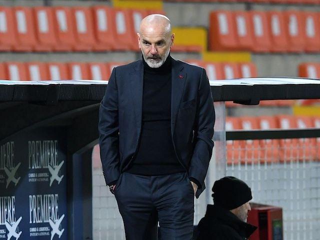 AC Milan coach Stefano Pioli on February 13, 2021