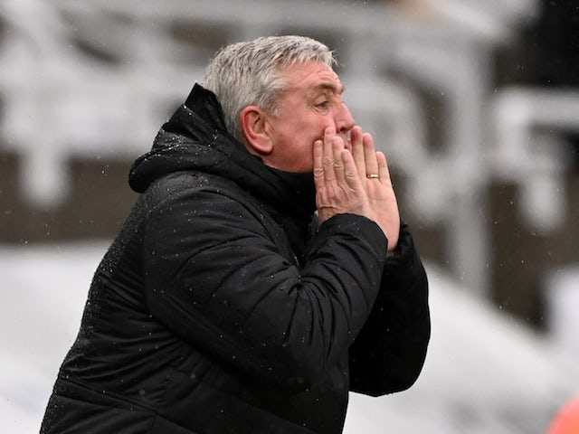 Newcastle United manager Steve Bruce pictured in February 2021