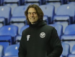 Brentford manager Thomas Frank pictured on February 10, 2021
