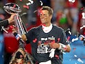 Tom Brady celebrates winning the Super Bowl on February 7, 2021