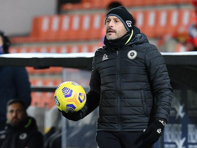 Spezia coach Vincenzo Italiano on February 13, 2021