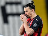 AC Milan striker Zlatan Ibrahimovic pictured on February 13, 2021