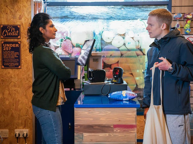 Suki and Bobby on EastEnders on February 23, 2021