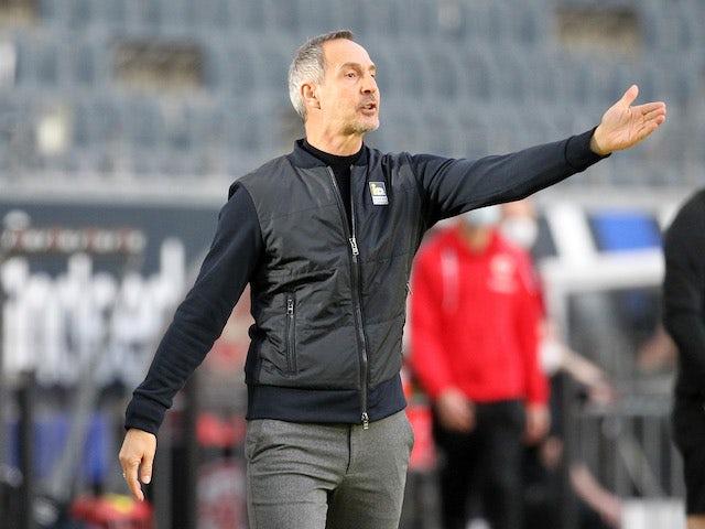 Eintracht Frankfurt coach Adi Hutter pictured on February 20, 2021