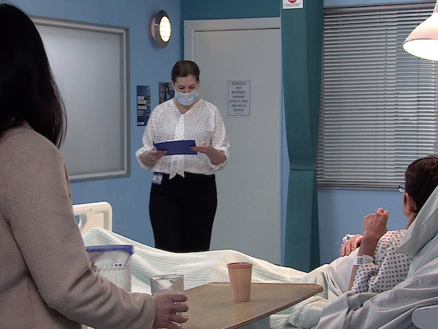 A doctor on the first episode of Coronation Street on March 5, 2021