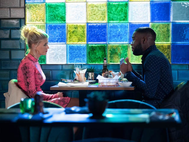 Isaac and Lola on EastEnders on March 1, 2021