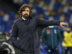 Juventus head coach Andrea Pirlo pictured in February 2021