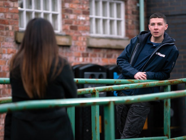 Jacob on the first episode of Coronation Street on March 5, 2021