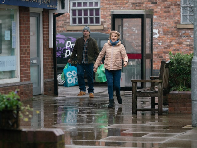 Tim and Sally on the second episode of Coronation Street on March 1, 2021