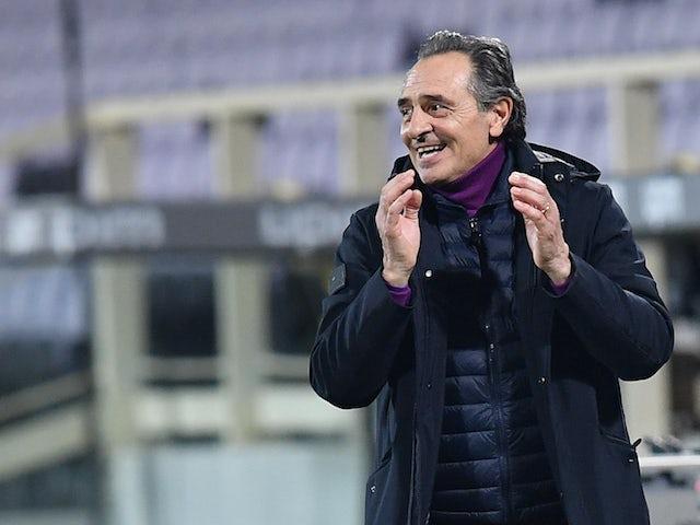 Fiorentina manager Cesare Prandelli pictured in February 2021