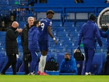 Chelsea's Tammy Abraham goes off injured against Newcastle United on February 15, 2021