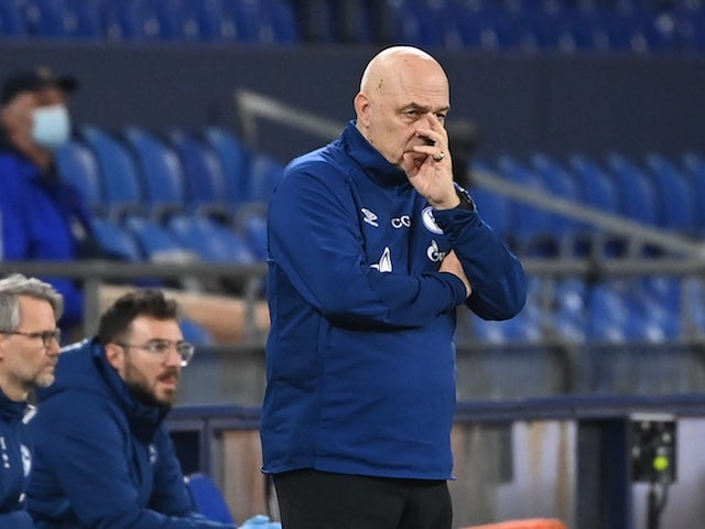 Schalke 04 coach Christian Gross pictured on February 20, 2021