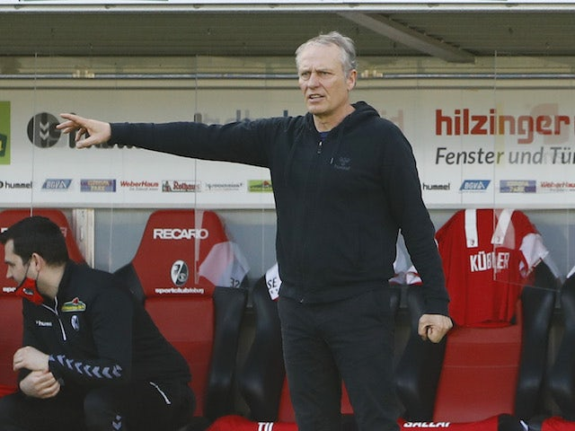 Freiburg coach Christian Streich pictured on February 20, 2021
