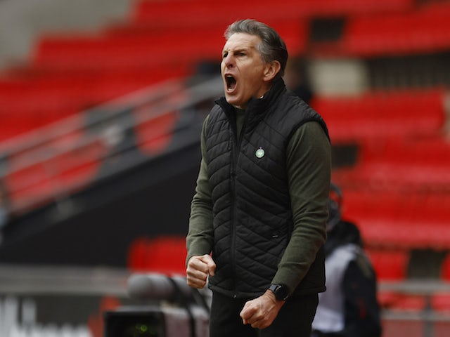 Saint-Etienne manager Claude Puel pictured in February 2021