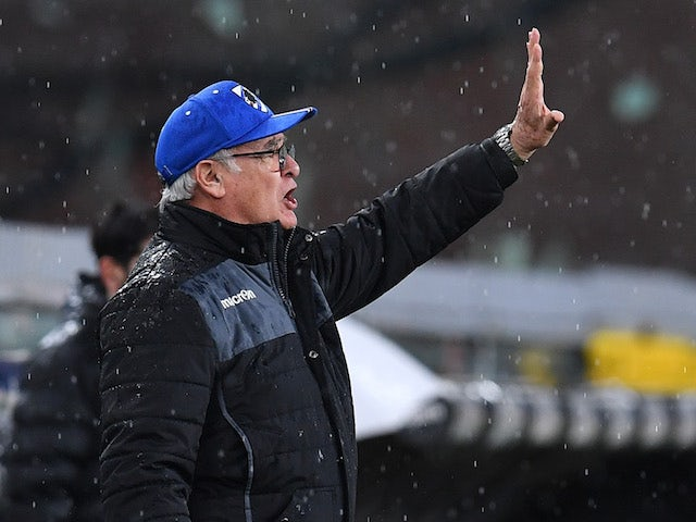 Sampdoria manager Claudio Ranieri pictured on January 30, 2021