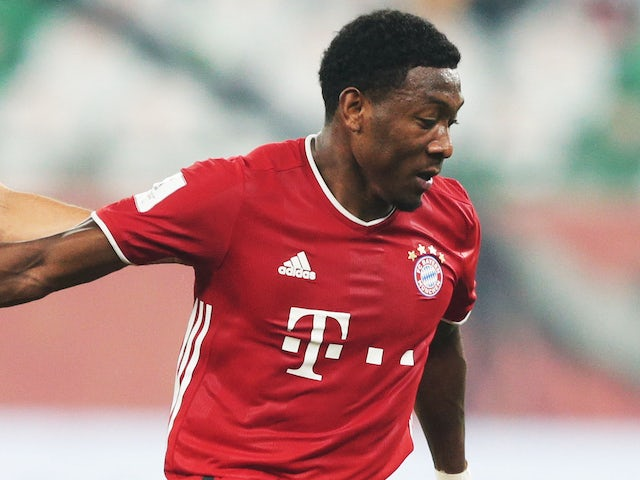 David Alaba in action for Bayern Munich on February 11, 2021
