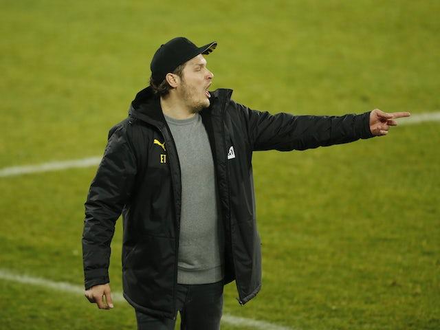 Borussia Dortmund caretaker manager Edin Terzic pictured on February 20, 2021