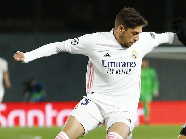 Real Madrid's Federico Valverde pictured in November 2020