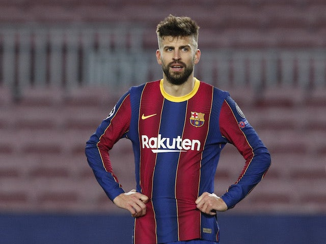 Barcelona's Gerard Pique pictured on February 16, 2021