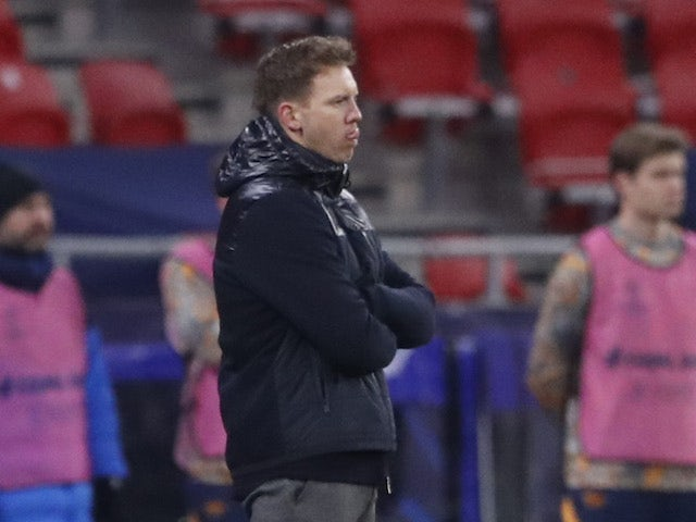 RB Leipzig coach Julian Nagelsmann pictured on February 16, 2021