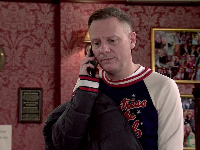 Sean on the second episode of Coronation Street on March 5, 2021