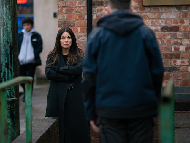 Carla on the first episode of Coronation Street on March 5, 2021