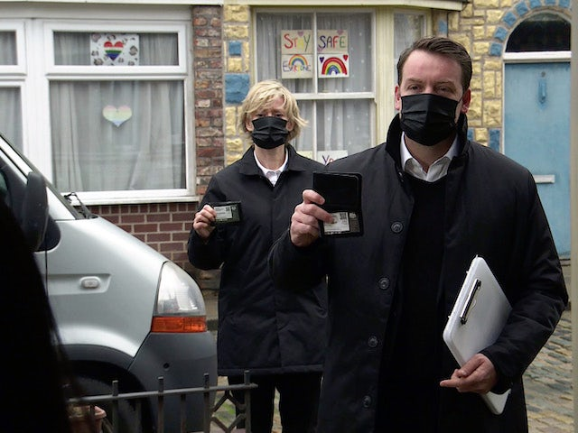 Bailiffs on the first episode of Coronation Street on February 24, 2021