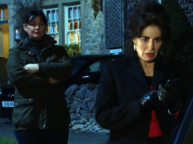 Moira and Faith on Emmerdale on March 1, 2021