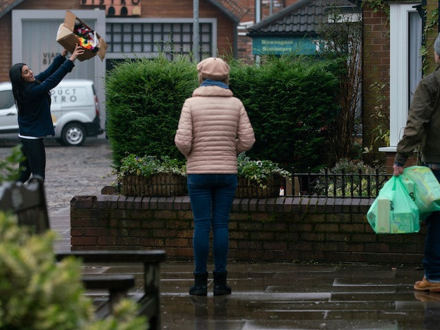 Alya and Sally on the second episode of Coronation Street on March 1, 2021