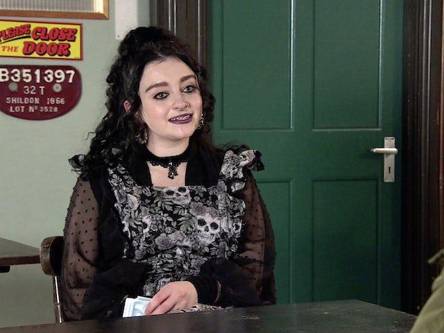Nina on the first episode of Coronation Street on March 1, 2021