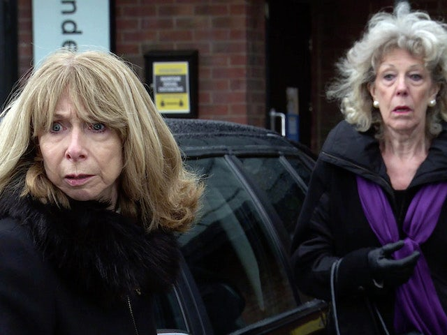 Gail and Audrey on the first episode of Coronation Street on February 24, 2021