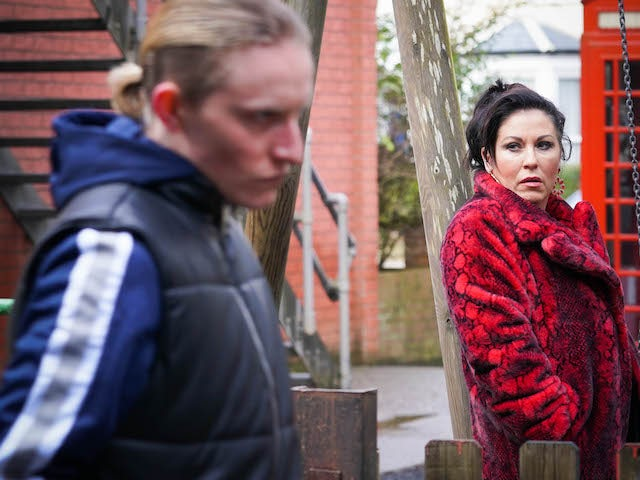 Kat and Stas on EastEnders on February 22, 2021