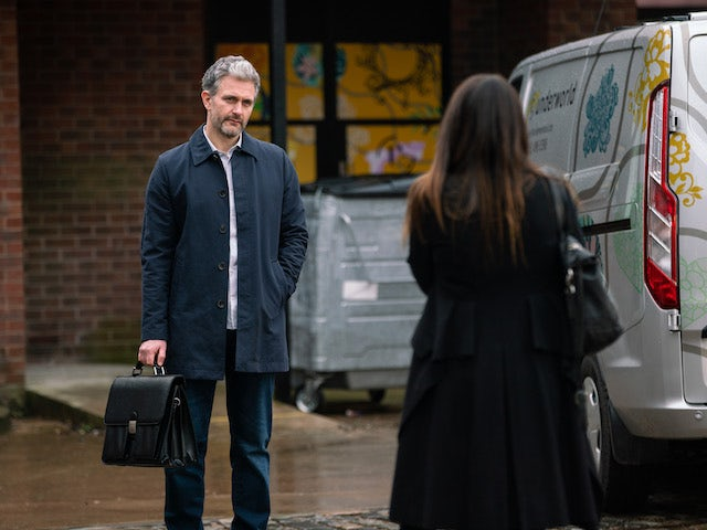 Lucas on the second episode of Coronation Street on February 24, 2021