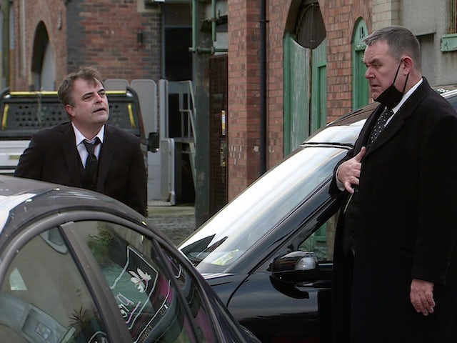 George and Steve on the second episode of Coronation Street on February 22, 2021
