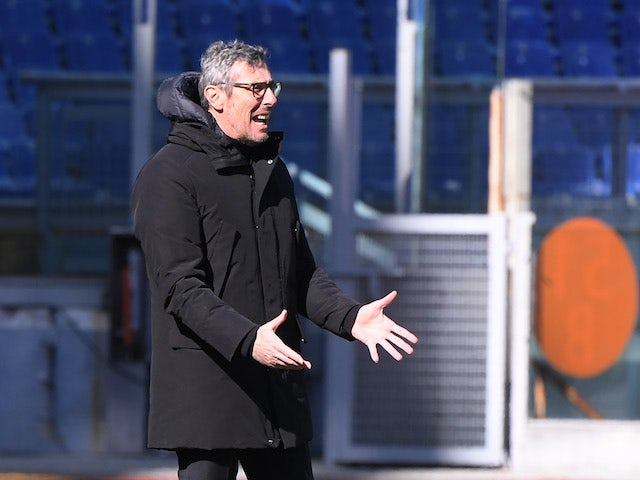 Udinese head coach Luca Gotti pictured on February 14, 2021