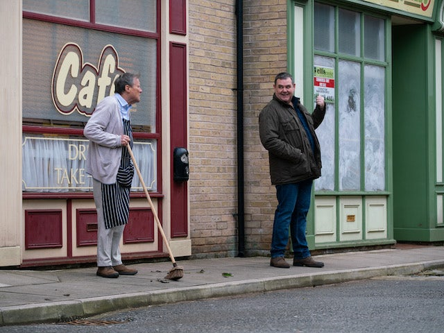 Roy and George on the first episode of Coronation Street on March 3, 2021