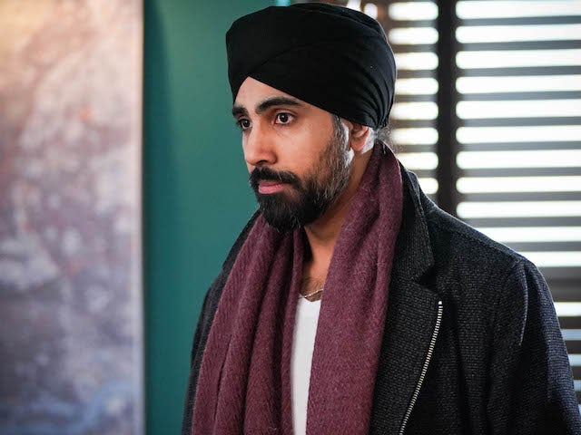 Kheerat on EastEnders on March 1, 2021