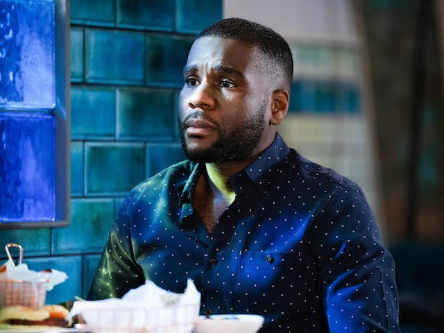 Isaac on EastEnders on March 1, 2021