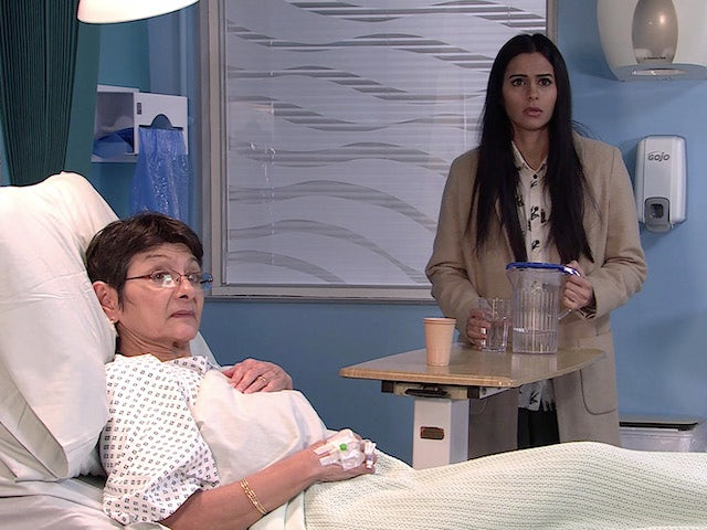 Alya and Yasmeen on the first episode of Coronation Street on March 5, 2021