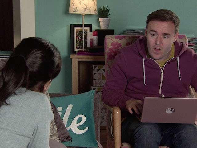 Tyrone on the second episode of Coronation Street on March 5, 2021