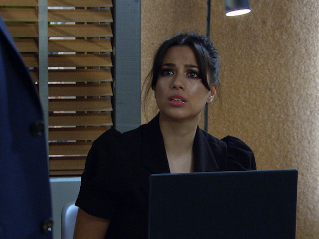 Priya on the first episode of Emmerdale on March 4, 2021