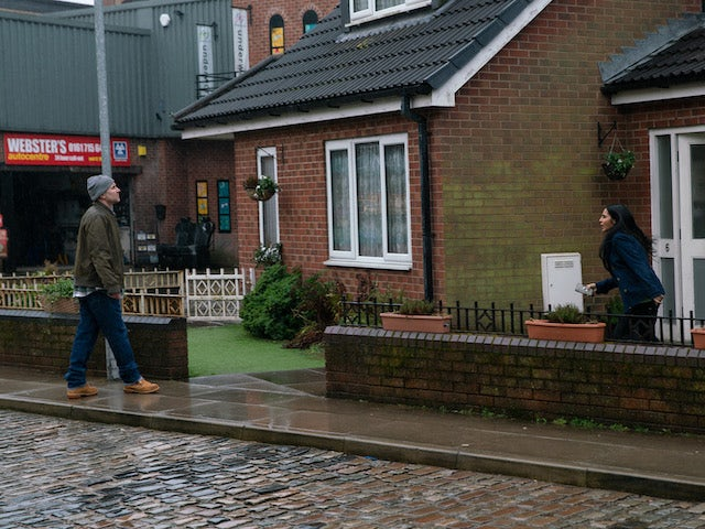 Tim and Alya on the second episode of Coronation Street on March 3, 2021