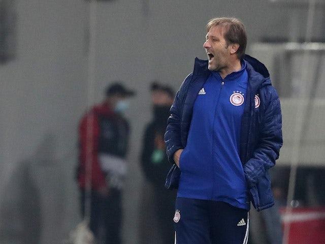 Ο προπονητής του Ολυμπιακού Pedro Martins στο Ευρωπαϊκό Πρωτάθλημα στις 18 Φεβρουαρίου 2021