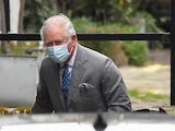 Prince Charles arrives at the King Edward VII hospital in London on February 20, 2021