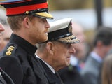 Prince Harry and Prince Philip pictured in November 2016