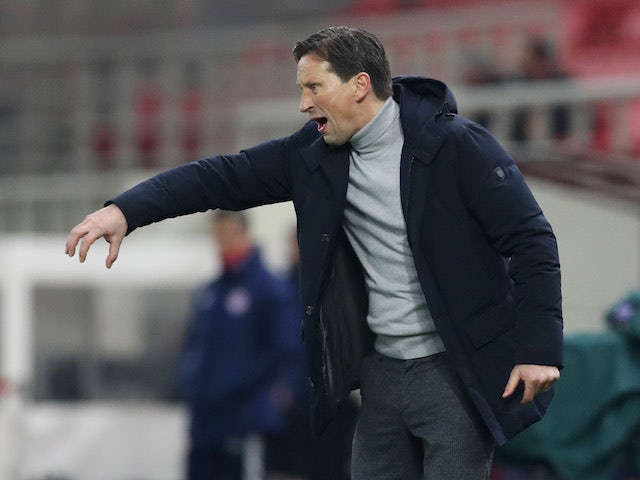 PSV Eindhoven coach Roger Schmidt in the Europa League on February 18, 2021
