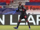 Liverpool's Sadio Mane celebrates scoring their second goal on February 16, 2021