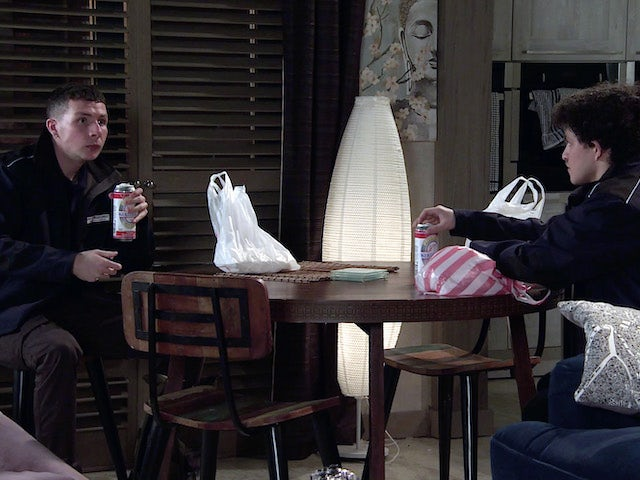 Jacob and Simon on the second episode of Coronation Street on March 3, 2021