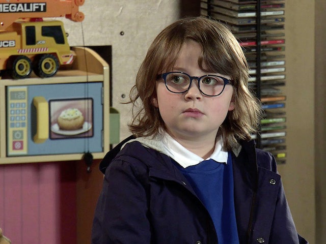 Sam on the first episode of Coronation Street on March 1, 2021